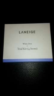 Laneige white dew trial kit
