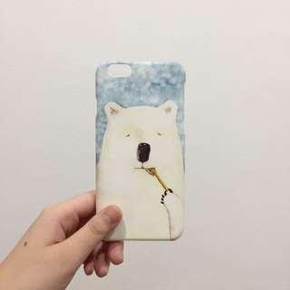 Iphone 6g/6s bear slim case