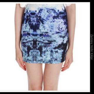 MDS BNWT Catalina Skirt In Blue Print