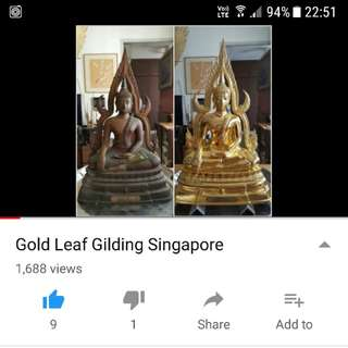 Gold Leaf Gilding Singapore-Youtube