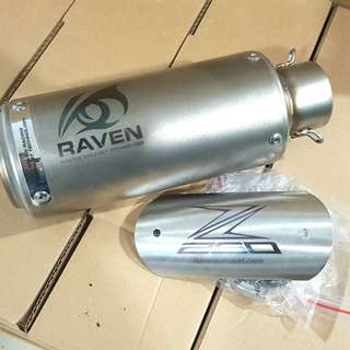 Thanks to biker z250 support raven muffler :) Rm250 muffler free 1 exhaust pipe protector worth rm50 Freegift valid until end off January 2018! Wasap 0126135416 order :)