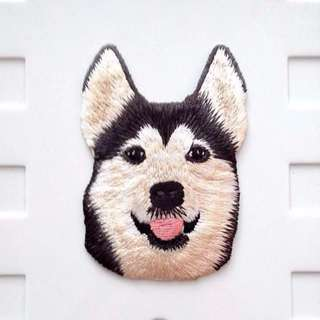 Husky Dog Iron On Patch