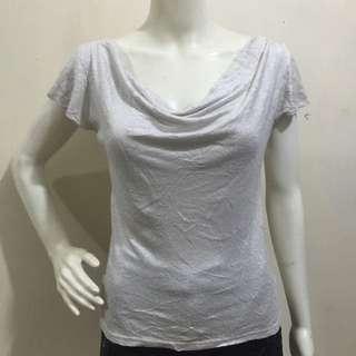 LUI JANNE silver glittery blouse small