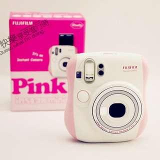 富士 Fuji 拍立得 mini25 白 粉紅相間 二手9成新1800含運