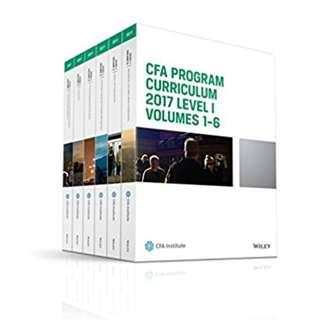 CFA Program Curriculum 2017 Level I, Volumes 1 - 6 (CFA Curriculum 2017) BY CFA Institute