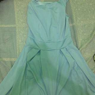 Dress biru pastel