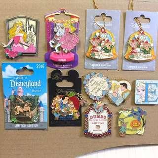 迪士尼 襟章 徽章 Disney Pins