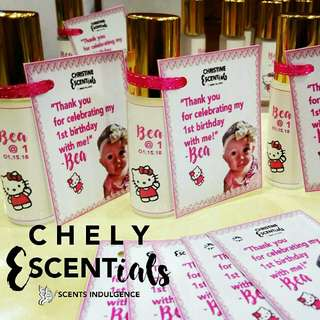 Customized Perfume Souvenirs for Kids Party