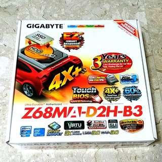 Gigabyte Z68M motherboard for matx desktop computer z68 z77 h77 b75 h77m z77m b75m p8p67 p8p67m p67 p67m