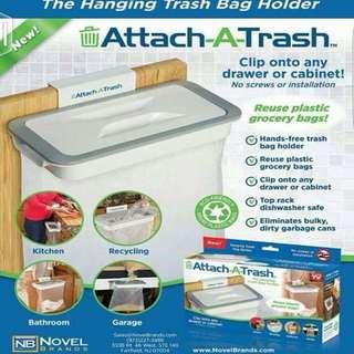 Attach A Trash Clip On Hanging Trash Bag Holder