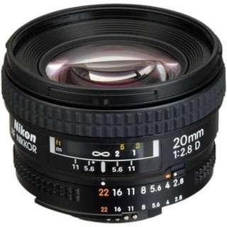 Nikon AF 20 2.8D