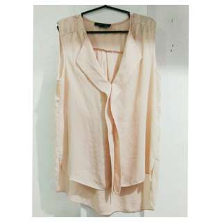 Nude pink blouse