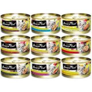 $24 per carton mixable! Fussie cat black label Tuna cat canned food 80g