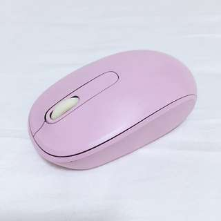 Microsoft Wireless Mouse in Baby Pink