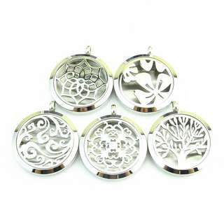 Free Essential Oil Surgical Steel Aromatherapy Pendant Locket