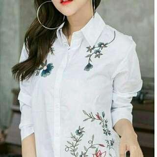 n.Tunix bordir asli white 82.000 Bhn katun rayon to fit ld 96 pj 70