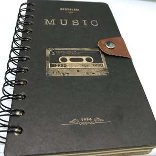 Notebook vintage style (hardcover)