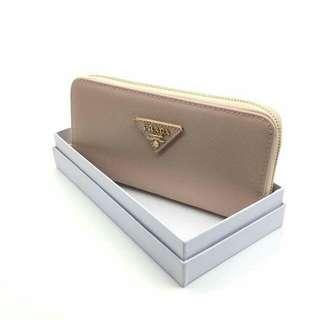 Prada Saffiano Wallet Beige Color