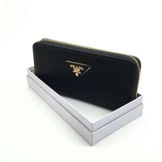 Prada Saffiano Wallet Black Color
