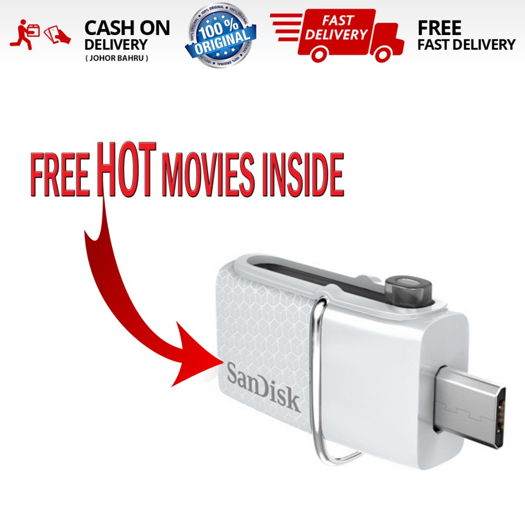 30 New Movies Inside Orisandisk 32gb Ultra Dual Usb Otg Pendrive 32 Gb Sandisk Drive Electronics Others On Carousell