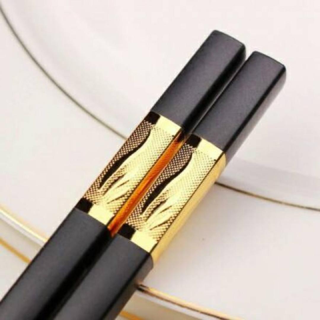 黃金如意合金筷(一包5雙)