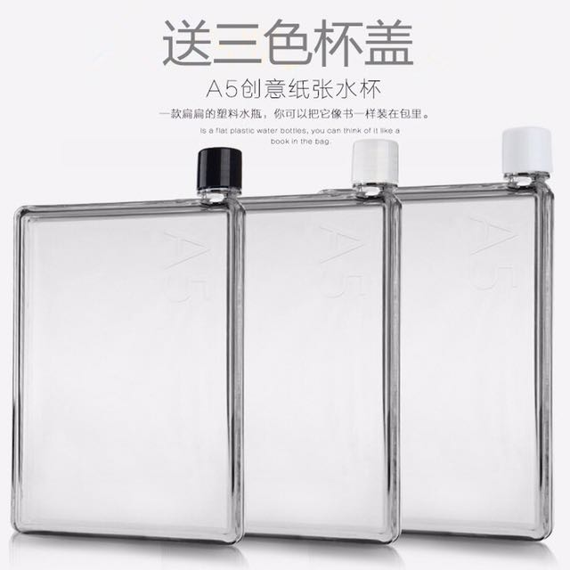 750ml memo bottle flat clear easy to carry