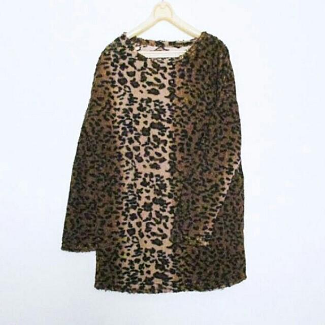 ▪豹紋厚實洋裝