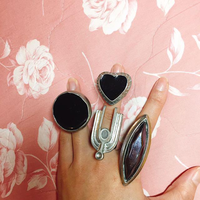 特別造型圓形愛心大戒指