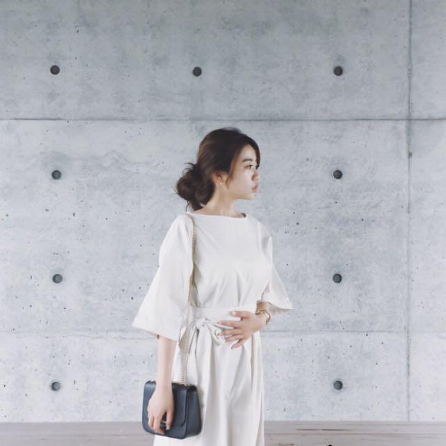全新,韓版米色氣質洋裝