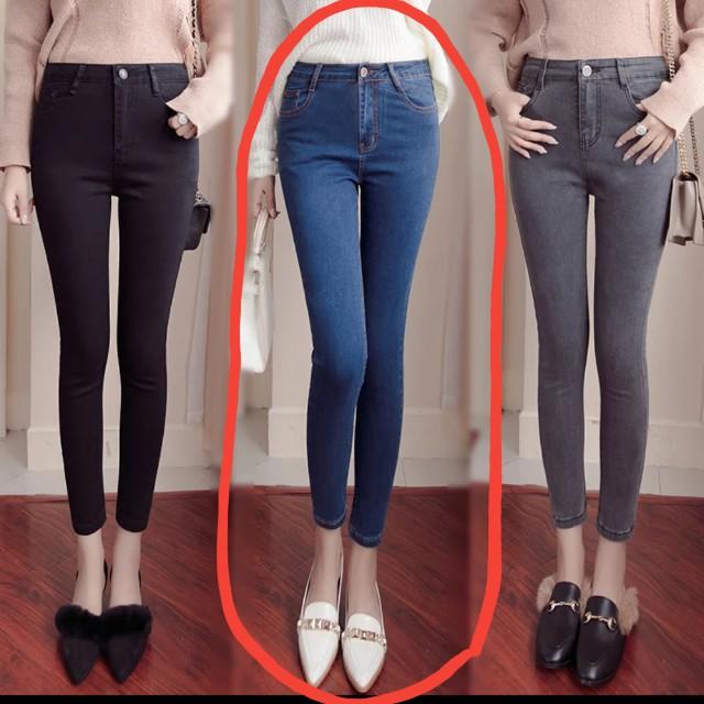加絨加厚牛仔褲