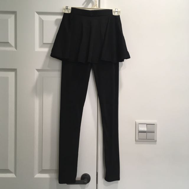 全新(韓版)時尚顯瘦假兩件內搭褲裙