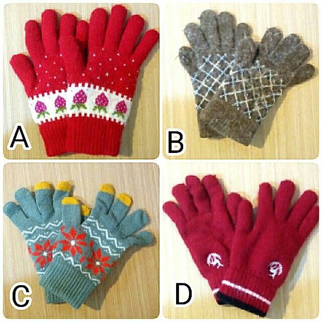 冬日保暖手套 4款