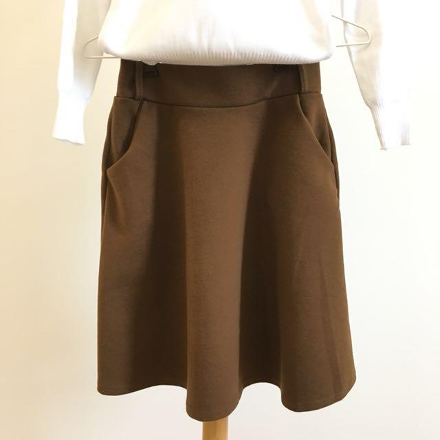 半身裙 咖啡色