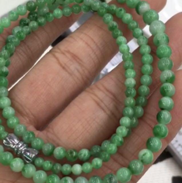 福利品💋外面買不到的價格!辣綠翡翠a貨佛珠鏈,規格:3~5.3mm,公司保留活動截止時間、要買要快