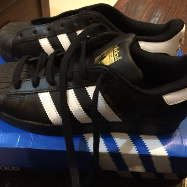 Adidas super star black , kw super