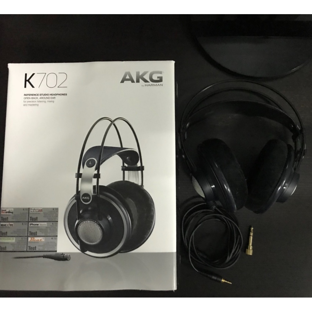 6e04ffc7ff4 AKG K702 Reference Studio Headphones, Electronics, Audio on Carousell