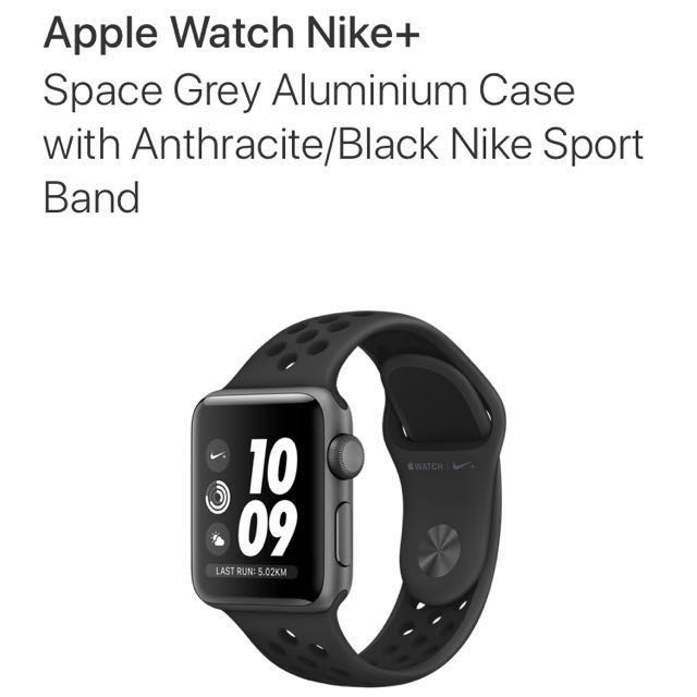 68be462fb0be1e Apple Watch Series 3 Nike+ Space Grey Aluminium Case with Anthracite ...