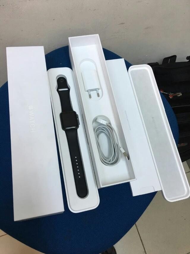 Apple Watch Sport 42mm Gen 1 Fulset Mulus 99% Resmi Ibox
