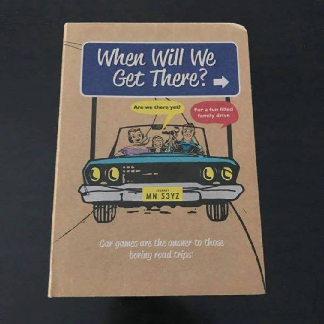 as new book when will we get there? car ride games