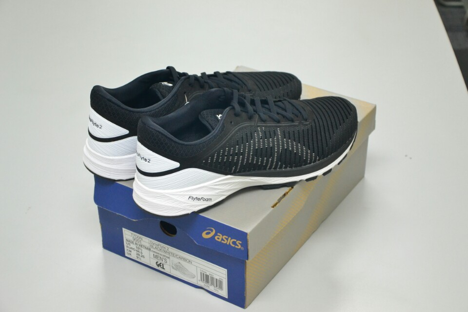 Asics Dynaflyte 2 running shoes. US10.5