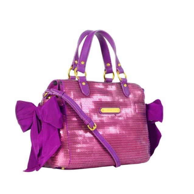 Authentic Juicy couture sequin satchel bag