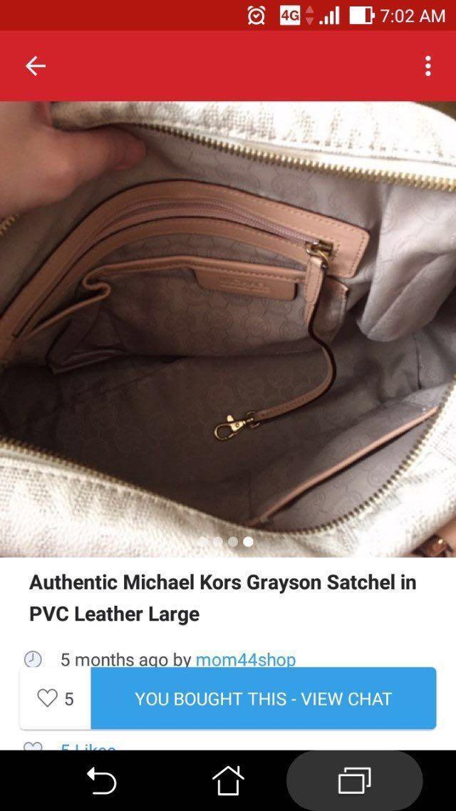 AUTHENTIC/ORIGINAL Preloved Bag No sling MK Grayson Satchel Large