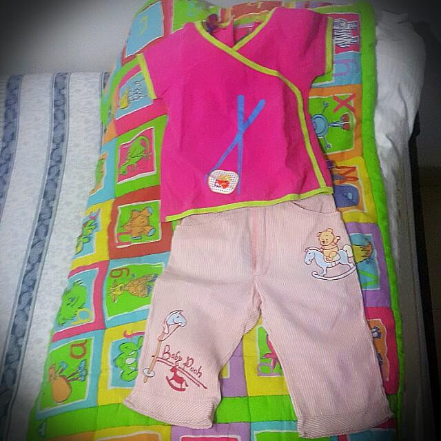 Baju dan celana pink