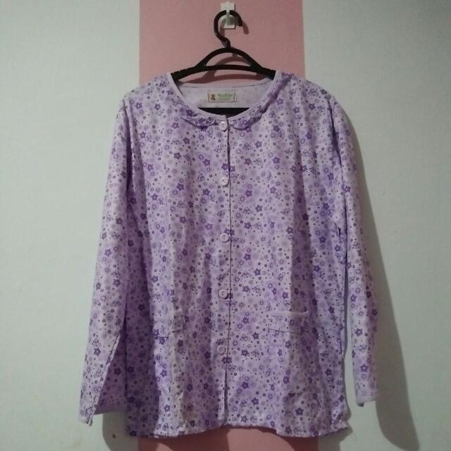 Baju Tidur Bunga Ungu