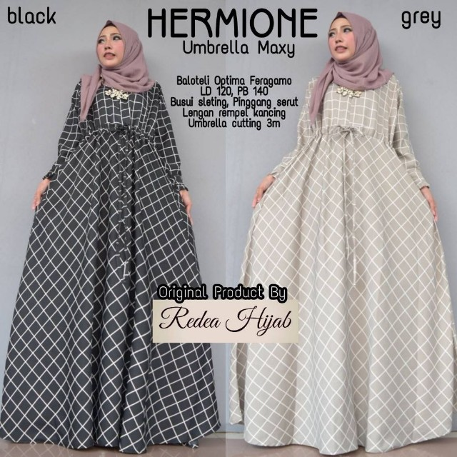 Baju Wanita Gamis Hermione Muslim Unik Modern Cantik Lucu Trendi