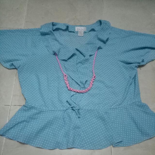Biru Polka Blouse
