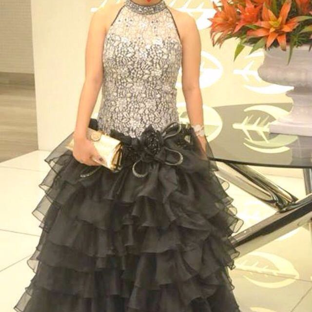 Black/Silver/White Gown For Rent (Prom, Debut, Special Occasions ...
