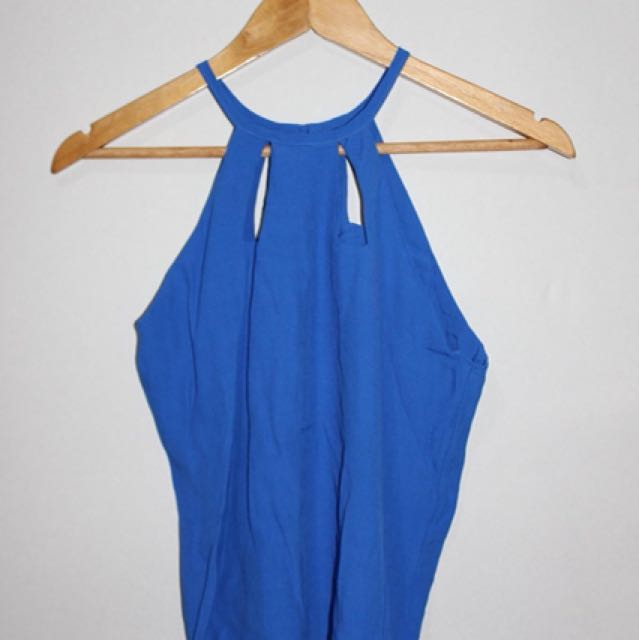 Blue halter top
