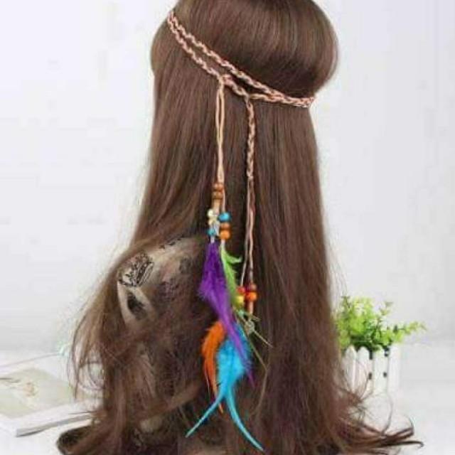 Sinulog! Boho Feather Headband