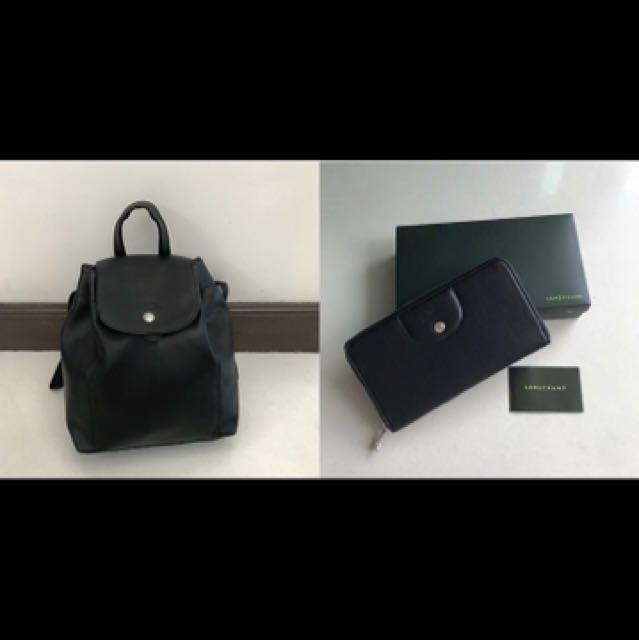 Brand new! Authentic Longchamp Backpack with wallet